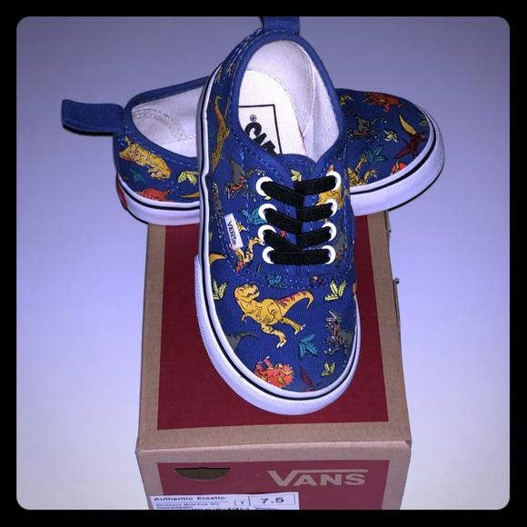 Vans Toddler Authentic Elastic Lace Dinosaur Shoes.  M 5c54faf3c617772ebee54d1f de7eb575a